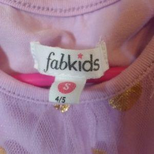 fabkids Dresses - Light Purple Gold Polkadot Dress, FabKids, EUC